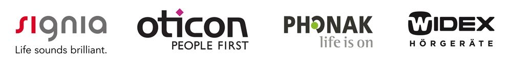 Hörgeräte von Siemens, Oticon, Phonak und Widex